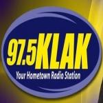 Logo da emissora KLAK 97.5 FM