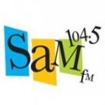 Logo da emissora Radio KKMX 104.5 FM