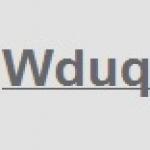 Logo da emissora WDUQ 90.5 FM HD4