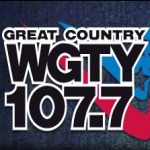 Logo da emissora WGTY 107.7 AM