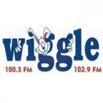 Logo da emissora WHGL Wiggle 100 FM