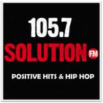 Logo da emissora Radio WHMX 105.7 Solution FM