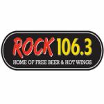 Logo da emissora Radio WHXR Rock 106.3 FM