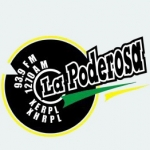 Logo da emissora Radio La Poderosa 93.9 FM