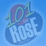 Logo da emissora WROZ The Rose 101 FM