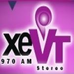 Logo da emissora XEVT 970 AM