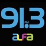 Logo da emissora XHFAJ-FM Alfa 91.3 FM