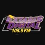 Logo da emissora XHQJ Extasis Digital 105.9 FM