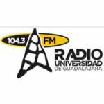 Logo da emissora Radio Universidad de Guadalajara 104.3 FM