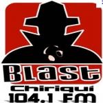 Logo da emissora Blast 104.1 FM