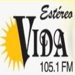 Logo da emissora Estereo Vida 105.1 FM