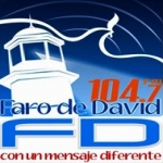 Logo da emissora Faro 104.7 FM