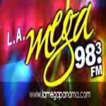 Logo da emissora Radio La Mega 98.3 FM