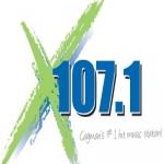 Logo da emissora Radio X 107.1 FM