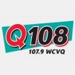 Logo da emissora Radio WCVQ Q108 107.9 FM