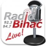 Logo da emissora Radio Bihac 92.3 FM