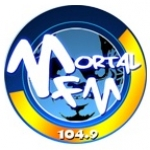 Logo da emissora Radio Mortal 104.9 FM