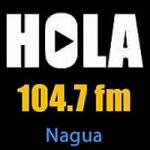 Logo da emissora Radio Hola 104.7 FM