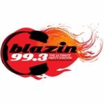 Logo da emissora Radio Blazin 99.3 FM