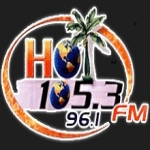 Logo da emissora Hot 105.3 FM