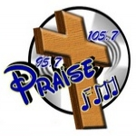 Logo da emissora Praise 105.7 FM