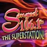 Logo da emissora Radio Sangeet 106.1 FM