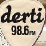 Logo da emissora Radio Derti 98.6 FM