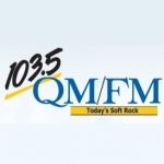 Logo da emissora Radio CHQM 103.5 FM