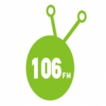 Logo da emissora Radio Rythmos 106 FM