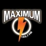 Logo da emissora Maximum 103.7 FM