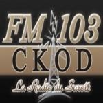 Logo da emissora Radio CKOD 103.1 FM