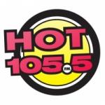Logo da emissora Radio CKQK Hot 105.5 FM