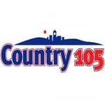 Logo da emissora Radio CKQM Country 105.1 FM