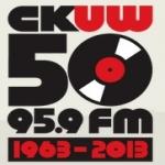 Logo da emissora Radio CKUW 95.9 FM