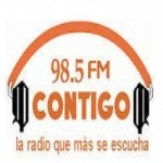 Logo da emissora Radio Contigo 98.5 FM