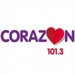 Logo da emissora Radio Corazón 101.3 FM