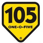 Logo da emissora Radio 105 Rock 105 FM