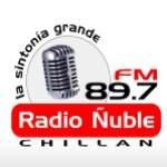 Logo da emissora Radio Ñuble 89.7 FM