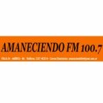 Logo da emissora Radio Amaneciendo 100.7 FM