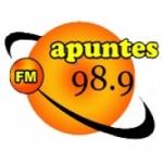 Logo da emissora Radio Apuntes 98.9 FM