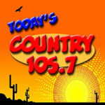 Logo da emissora Radio KVVP Today's Country 105.7 FM