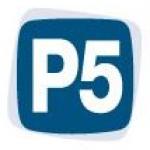 Logo da emissora Radio P5 104 FM