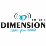 Logo da emissora Radio Dimensión 100.3 FM