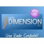 Logo da emissora Radio Dimensión 95.7 FM