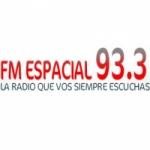 Logo da emissora Radio Espacial 93.3 FM