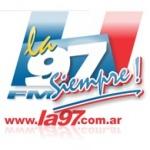 Logo da emissora Radio La 97 97.3 FM