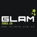 Logo da emissora Radio Glam 96.3 FM