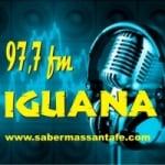 Logo da emissora Radio Iguana 98.5 FM