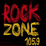 Logo da emissora Rock Zone 105.9 FM