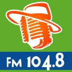Logo da emissora Budaors Radio 104.8 FM